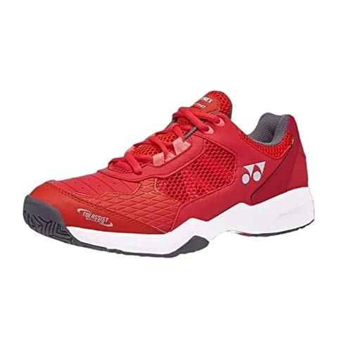 Yonex 2019 Sepatu Tennis Shoes for Men | Power Cushion Lumio Shtluex |Best for Lawn, Court Or Hard Top Play, Flash Red -7UK