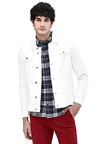 ARBIA FUNKI Men's Solid Denim Jacket