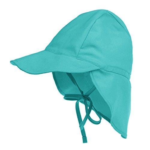 YJZQ Sombrero de sol para bebé niña, sombrero de verano con protección UV, sombrero flexible con mentonera ajustable, unisex, para 2 – 5 años azul Talla única