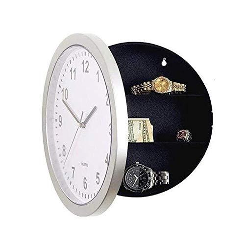 Caja de seguridad para el hogar Reloj de pared para el hogar Compartimento con caja redonda secreta Reloj seguro oculto Caja para guardar dinero Joyas Sala de estar