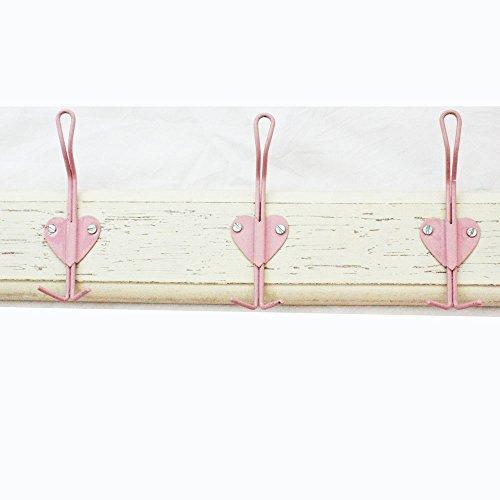 Rose Triple cœur Crochet sur bois – shabby chic style