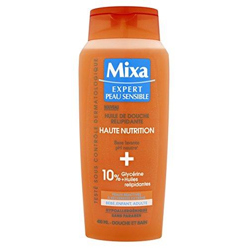 Mixa Expert rückfettendes Duschöl für empfindliche Haut, 400 ml