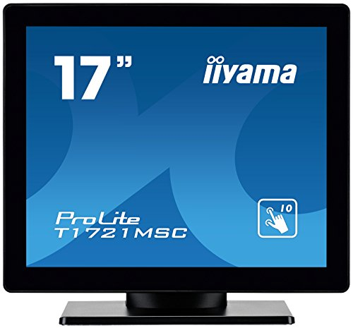 Iiyama ProLite T1721MSC-B1 43cm 17 Zoll kapazitiv multitouch LED Backlight 1280x1024 5ms 225cd/m  Schutzglas VGA DVI schwarz