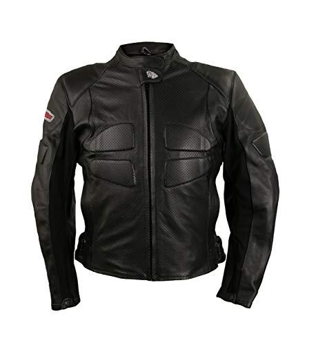 Zerimar KENROD Motorradjacke Frauen mit Schutz 100% authentisch Leder Farbe Schwarz Größe XL