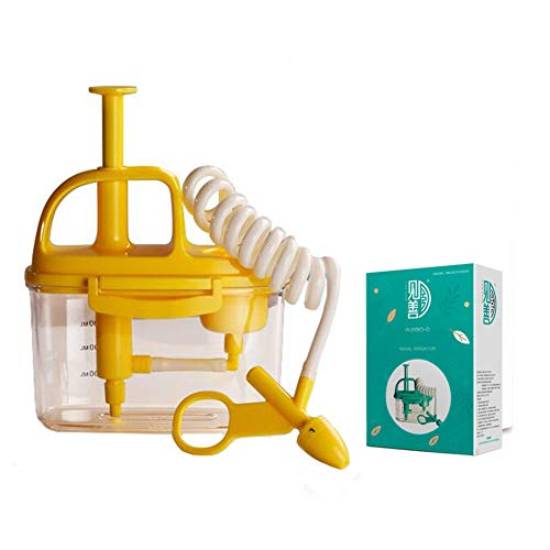 WHYTT Botella Lavado Nasal bebé Aspirador Nasal Mejor Lavable y Reutilizable Aspirador Nasal para bebé y mocos con Ventosa para recién Nacidos y niños pequeños 95 mm * 185 mm * 120 mm