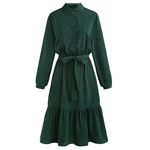 U/A - Vestido de manga larga para mujer