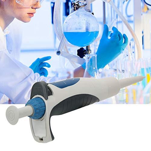 Jeanoko Micro pipeta monocanal de Volumen Variable Manual de 0,5 a 10 μl con eyector de Punta para Oficina para Laboratorio