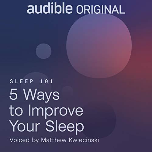 Diseño de la portada del título 5 Ways to Improve Your Sleep