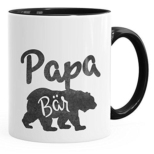 MoonWorks Kaffee-Tasse Papa Bär schwarz Unisize