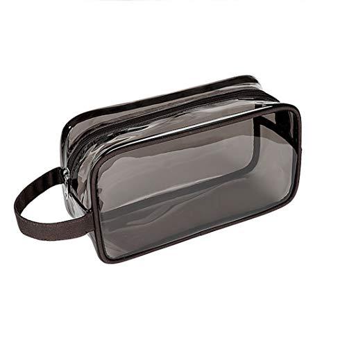 Bolsa de aseo de viaje a prueba de agua: bolsa de almacenamiento cosmética, bolsa cosmética portátil multifunción para hombres y mujeres, protección ambiental y alta black
