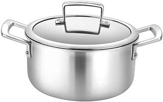 Pot à Soupe avec Couvercle, Utilitaire Familial, Acier Inoxydable Collé Au Lave-Vaisselle, C-W