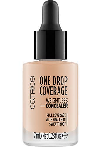 Catrice One Drop Coverage Weightless Concealer, Abdeckstift, Nr. 010 Light Beige, nude, für trockene Haut, für Mischhaut, feuchtigkeitsspendend, langanhaltend, matt, vegan, ölfrei, wasserfest (7ml)