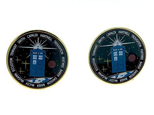 Patch Nation Dr Who Doctors Ärzte Tribut Metall Cosplay Cufflinks Manschettenknöpfe