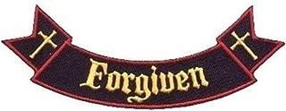 Ribbon Rocker Forgiven Bible Christian Church Jesus Biker Vest Patch! PAT-1532