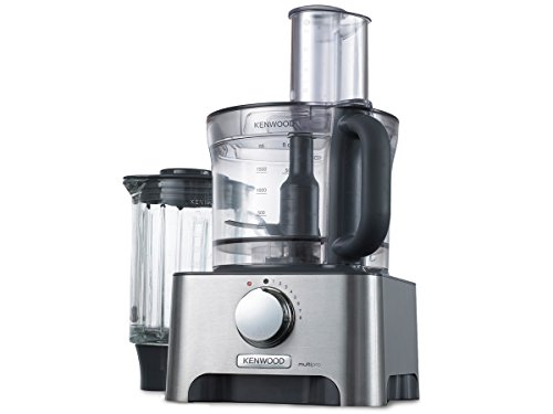 Kenwood MultiproClassic - Procesador de alimentos familiar, 1000 W, 3 litros, velocidad variable, color metal