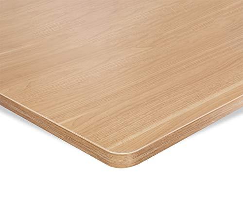 ESMART Germany TPL-126M stablie Schreib-Tisch-Platte aus MDF [Größenauswahl] 120 x 60 x 2,5 cm - Ahorn Dekor | Kratzfest, PVC-beschichtet, pflegeleicht, Bürotischplatte belastbar bis 120 kg