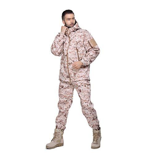 MKJYDM Camouflage Tactical Suit Outdoor wasserdichte Winddichte Jacke Camouflage Bergsteigen Bekleidung Herrenjacke Tarnen (Size : XL)
