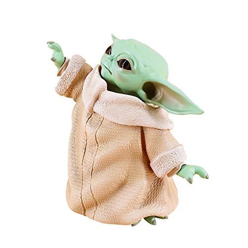 DealmerryUS Adornos de Juguete para bebé Yoda de Star Wars de 5,9 Pulgadas, Regalo de colección de Navidad de cumpleaños para niños de Navidad para niños