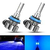 ZonCar H11 Led Fog Light Bulbs Blue, Super Bright Ice Blue High Power H16 H8 H9 Fog Light Bulbs 4000 Lumens 12V Led Fog Light Replacement Bulbs for Car IP67 Waterproof Fog Lamp Bulbs, Pack of 2