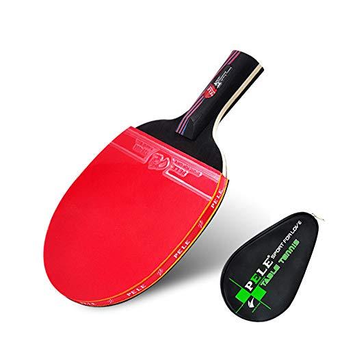 LINGKY Murciélago De Tenis De Mesa De Fibra De Carbono, Pata Y Estuche Profesional De Tenis De Mesa