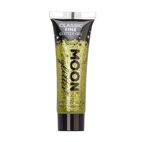 Moon Glitter - Gel brillant fin classique - 12ml - Or - Pailleté pour visage.