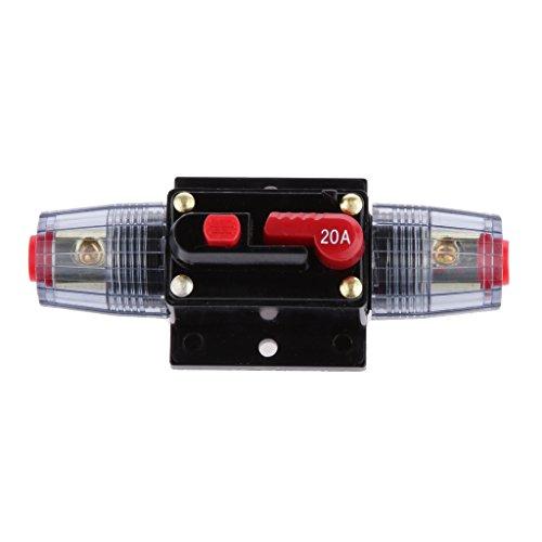 Generic 12V-24V Inline Auto eistungsschalte Manuellen Reset Schalter Car Audio Sicherung - 20a