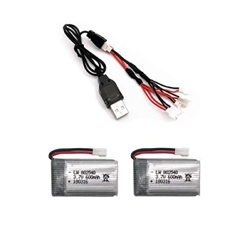 RFGTYH Batería de 3,7 v 650 mah 802540 + Cargador de Cable USB para Drone X5C...
