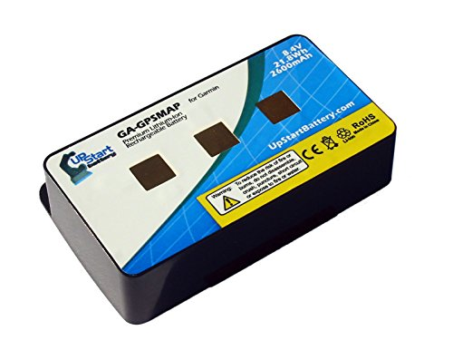 Replacement Garmin GPSMAP Battery (2600mAh, 8.4V, Lithium Polymer) - Compatible with Garmin GPSmap...