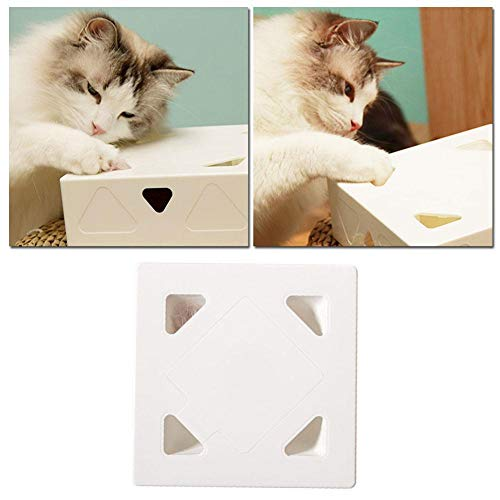 XCSM Caja mágica para Gatos, Juguetes interactivos para Gatos eléctricos para Gatos de Interior, bromas Inteligentes, Palo para Gatos, Pluma giratoria, Juguete para atrapar, Caza, Mascota, Juego