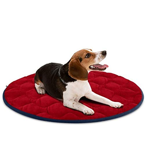 Large Dog Bed Mat, zacht voor washable Crate Matras 90 x 60 cm, slip Pet Cushion Pad