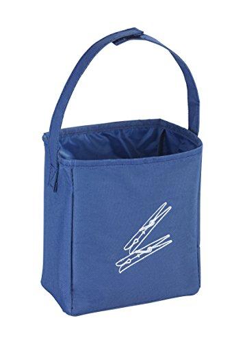 WENKO Wäscheklammerbeutel Blau, Polyester, 17 x 19 x 10 cm, Blau