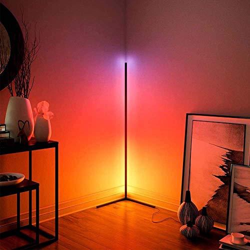 Luz de Piso LED Regulable, RGBW WiFi Cafe Bar Lámpara de Control táctil de luz de Piso de pie, Ideal para Fiestas, Salas de Estar, dormitorios, Restaurante