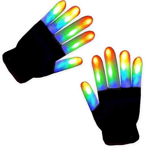 Aldeepo LED Gloves for Kids LED Light Up Gloves Finger Lights 3 Colors 6 Modes with Extra Battery product image