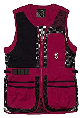 Browning Women's Trapper Creek Shooting Vest-Cassis (Small)