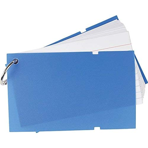 Staples Ruled Index Cards on a Ring, Poly Cover, 3' x 5' assorted colors