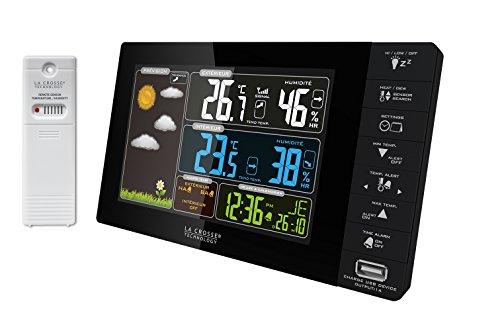 La Crosse Technology WS6827-BLA - Stazione meteorologica con Schermo a Colori, Colore Nero