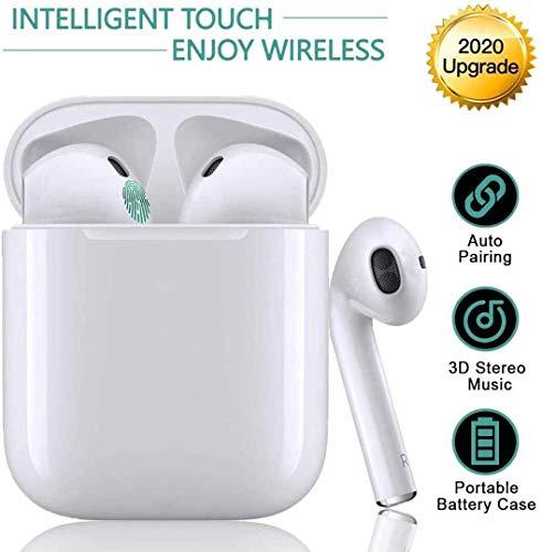 Bluetooth Kopfhörer 5.0, Funk In-Ear-Ohrhörer, Sport-3D-Stereo-Kopfhörer, wasserdichtem IPX5,mit Portable Mini Ladekästchen, für Apple Airpods Android iPhone Huawei
