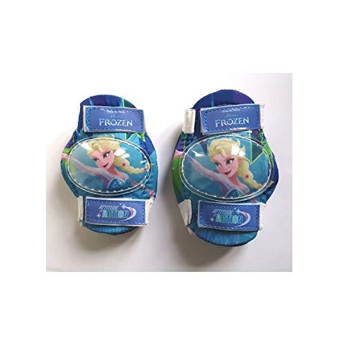 F2 Mädchen Frozen Knie-und Ellenbogenschoner, blau, bis max. 25 kg Körpergewicht