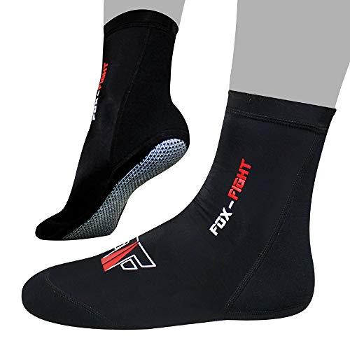 FOX-FIGHT rutschfeste MMA Socken professionelle hochwertige Qualität Knöchelbandage antirutsch Traingssocken Muay Thai Kickbox Freefight Kampfsport BJJ Sport Damen Herren M (41-42)