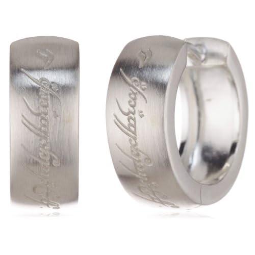 Herr der Ringe 3004-001 - Orecchini a cerchio da donna, argento sterling 925, 15 mm