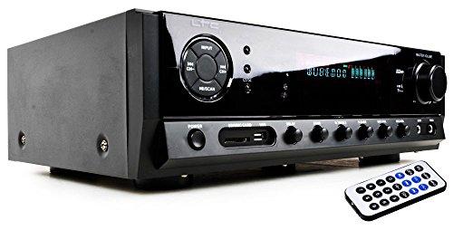 WJG Industrievertretung HiFi-Verstärker Receiver Karaoke Musik 100 Watt Fernbedienung Bluetooth MP3 USB SD LTC ATM 6500 BT