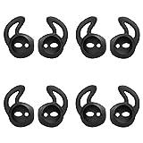 MoKo Almohadillas Auriculares para Apple AirPods/EarPods [4 PZS], Respuesto de Eartips de Silicona Suave Anti-Slip Gancho de Gel Auriculares Protectivos Accessorios - Blanco