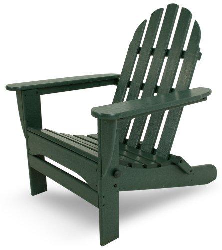 "POLYWOOD AD5030GR Classic Folding Adirondack Chair, 38.5"" x 31.25"