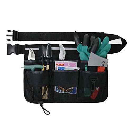 Tragbare Gartenarbeit Werkzeuggürtel Elektriker Werkzeugtasche verstellbare Multi Fächer Garten-Hüfttasche Gebrauchstasche mit reflektierenden Streifen für Elektriker, Tischler, Bauarbeiter Mechaniker