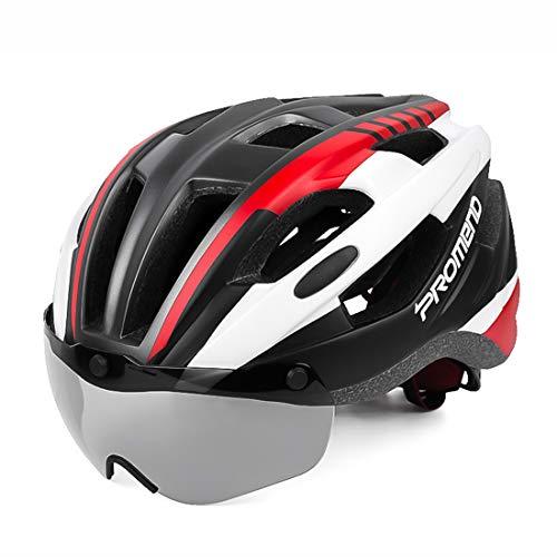 LXJ Casco de ciclismo para hombre cómodo y transpirable casco de bicicleta...