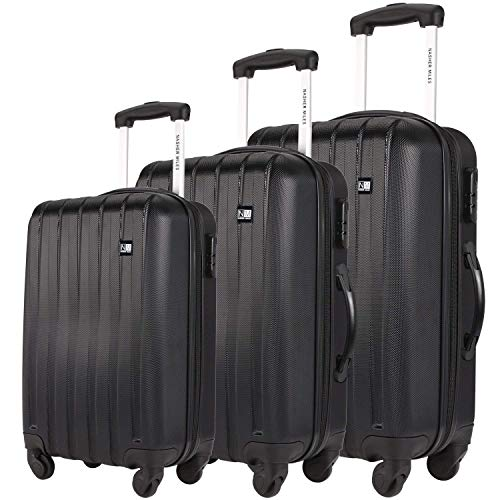 Nasher Miles Zurich ABS Luggage Set of 3 Trolley/Travel/Tourist Bags (55, 65 & 75 cm)