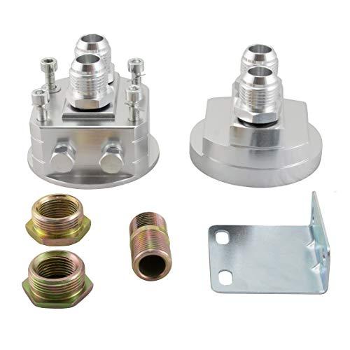 Ölfilter Relocation Adapter Kit AN10 Ölkühler Sandwich Platte Platzmangel Sensor