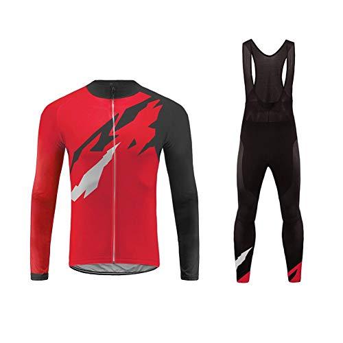Uglyfrog MTB Deportes al Aire Libre, Ropa Ciclismo Invierno, Hombre Larga Conjunto + Pantalones de Acolchado 20D, Montar Ropa Set, Térmico, Transpiración FAEDXHUNP01