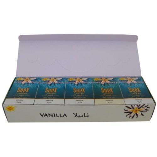 Soex Vanilla Flavor Hookah Shisha Authentic Herbal Molasses Full Sealed Box 10 Packs x 50 g - Total 500 gr by