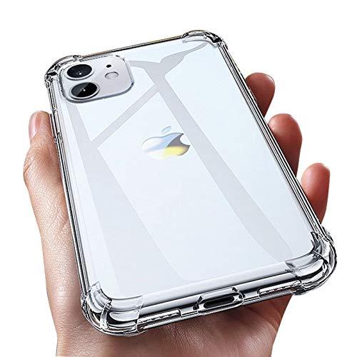 HNZZ Tmrtcgy Caja de Silicona a Prueba de Golpes Transparentes de Lujo para iPhone 11 x XR XS MAX Case 12 11 Pro MAX 8 7 Plus SE Funda de Silicona (Color : Transparent, Size : Iphone7 8)